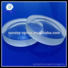 Lentes de flúor de cálcio CaF2 para aplicação UV