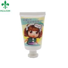 douce douce fille mignonne 35ml tubes souples cosmétique crème pour les mains avec étiquette