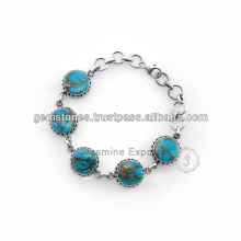 Atacado turquesa Gemstone Silver Jewelry