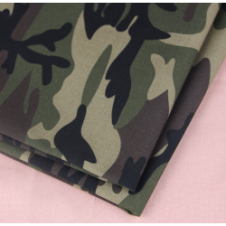 Poly/Cotton Camouflage Printed Fabric