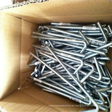 6mm diameter galvanized tent pegs