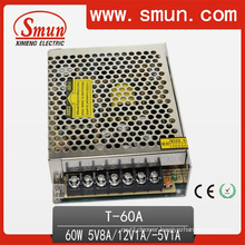 60W Triple Output Switching Power Supply 5V8a/12V1a/-5V1a