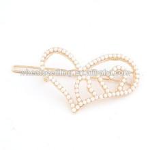 Nouvelle forme d'arrivée, délicate, mignonne, perle, perle, coeur, coeur, épingle à cheveux