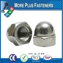 Fabriqué à Taiwan Acorn Hex Cap Nut Nappe en laiton massif en acier inoxydable Acorn Noix Aluminium