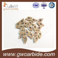 Pastilhas indexáveis de carboneto de tungstênio para corte de metal