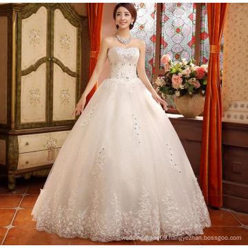 New arrival lace style multistory with beaded belt white amanda novias wedding dresses