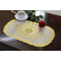 30*46cm Waterproof Oilproof PVC Tablemat with Lace Gold
