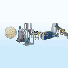 plastic bags recycling granulating machine