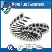 Taiwan Galvanized Schnellbauschrauben Trockenbauschrauben Gypsum Black Phosphaed Bugle Head M3.5 #6 Collated Drywall Screws