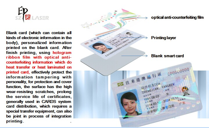 ID card ribbon