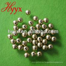 Cuentas de perlas sueltas redondas de oro sin brillo