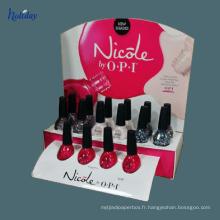 Affichage de comptoir cosmétique / maquillage présentoir de compteur de rouge à lèvres en carton