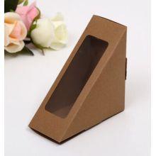 China Custom Kraft Paper Food Packaging Box/Lunch Box/Sandwich Box