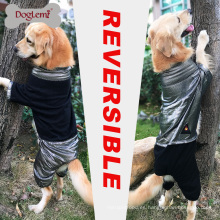 DogLemi New Design Heat Reflective Fleece Chaqueta de perro reversible de invierno Large Dog Jumpsuit