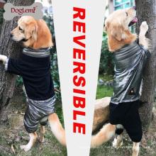 DogLemi nouvelle conception chaleur réfléchissante polaire chien veste réversible hiver grand chien combinaison