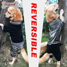 DogLemi Novo Design de Calor Jaqueta de Cão de Lã Reflexiva Inverno Reversível Grande Macacão Do Cão