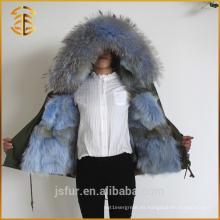 2017 El nuevo Fox de la chaqueta gruesa de encargo de las mujeres del diseño forró el parqueo de la piel