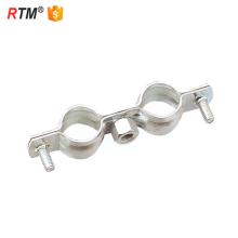 J17 3 15 2 braçadeira de tubo duplo resistente sem borracha tubo de prego braçadeira dois parafusos braçadeira de tubo sem revestimento de borracha