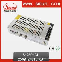 Fonte de alimentação do interruptor da saída da CC de 250W 24V 10A