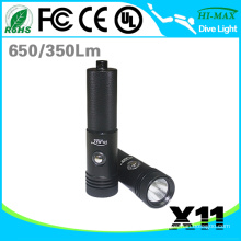 2015 New Portable Narrow Light Beam Diving Flashlight