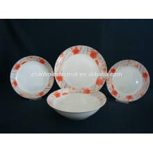 La cena de cerámica de la nueva forma de la llegada redonda 20 / 16PCS fija con la calcomanía