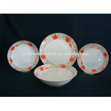 20pcs round colorful decal Ceramic Dinner Sets