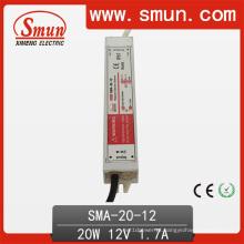 Fonte de alimentação impermeável IP67 do motorista constante do diodo emissor de luz da corrente de 20W 6-12V