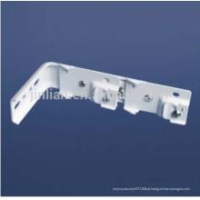 L forma de suporte de parede dupla para cortina dupla faixas