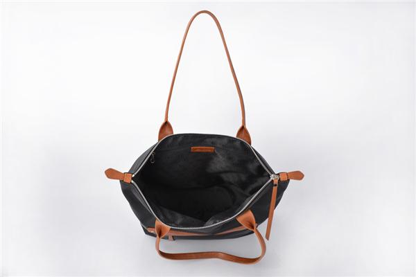 Fashion Navy Pocket Nylon Tote Bags Handbag
