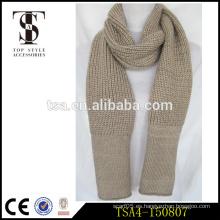 Bufanda de punto muy popular de la bufanda hilado metálico mohair hecho punto bufanda instantánea de la manera bufandas del color sólido