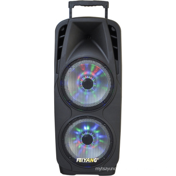 """Double 10"""" Bluetooth Speaker with Battery Backup & LED Woofer F73D"""