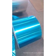 stock de aleta de papel de aluminio hidrófilo de color azul profundo usando en aire acondicionado
