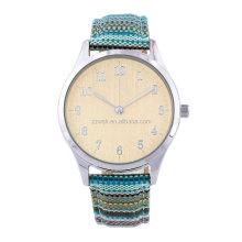 Beautiful New design quartz lady's watch with cotton strap
