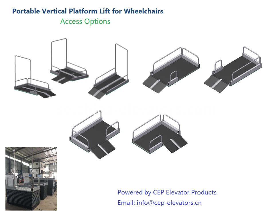 Access Options for Portable Vertical Platform Lift for Wheelchairs