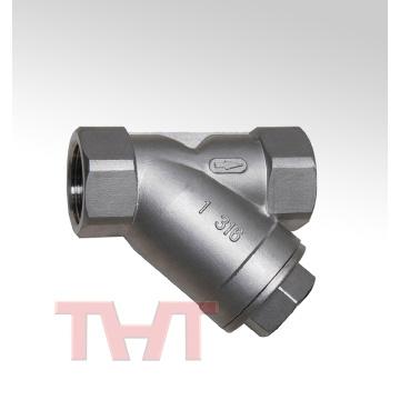 cf8m stainless steel NPT thread Y type strainer