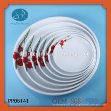 Корейский Unbreakable Белый цвет Круглый Оптовая Зарядные пластины, керамические пластины с переводной картинки