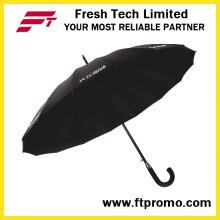 23 * 16k parapluie droit auto-ouvert pour la couleur pure