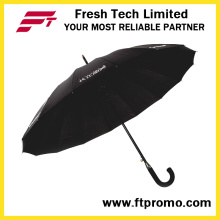 23 * 16k Auto Open Straight Umbrella para Cor Pura