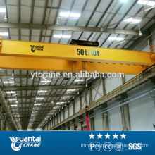 yellow color european EOT type single beam bridge crane