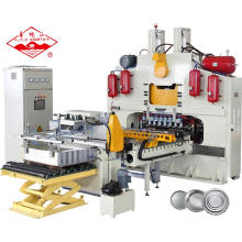 Automatic CNC H-type Sheet Feed Press For Metal Tin Round Lids Top Bottom General End Caps Making Machine Aluminum
