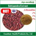 Natural Schisandra Fruit P. E Schizandrins Powder