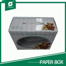 Caixa de embalagem de boneca com janela de PVC de exibição e identificador