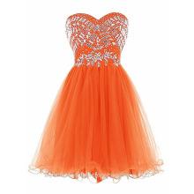 Nuevos vestidos de noche cortos elegantes atractivos del partido de Tulle del amor del diseñador de Alibaba con LC03 moldeado