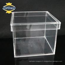 Boîte acrylique faite sur commande d'affichage acrylique de plexiglass de cristal pour le stockage de nourriture