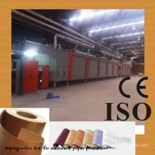 Linha de impregnação de papel decorativa / linha de impregnação de papel manufactuer / melamina linha de revestimento de papel / dois passos 4 pés impregnados l