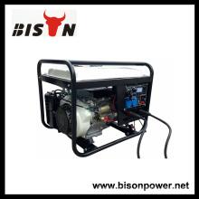 BISON CHINA Ensemble de générateur soudé diesel TaiZhou HONDA 3 phase 5kw avec connexion rapide