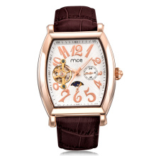 classic brand western leather band movement mechanical watch