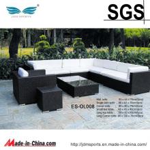 Sofa modulaire extérieur de rotin de patio réglé UK (ES-OL008)