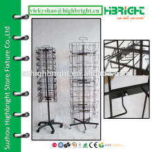 supermarket retail display stand,metal revolving rack,metal display rotative stand for greeting cards