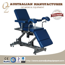 Professional US Standard Australian Manufacturer Medical Grade Motorized Hospital 2 Section Gynaecology Treatment Chair